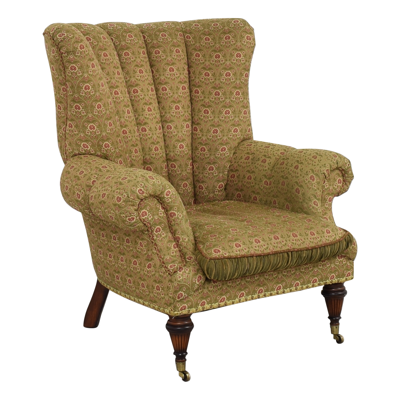 Key City Furniture Key City Jeff Zimmerman Wingback Lounge Chair dimensions