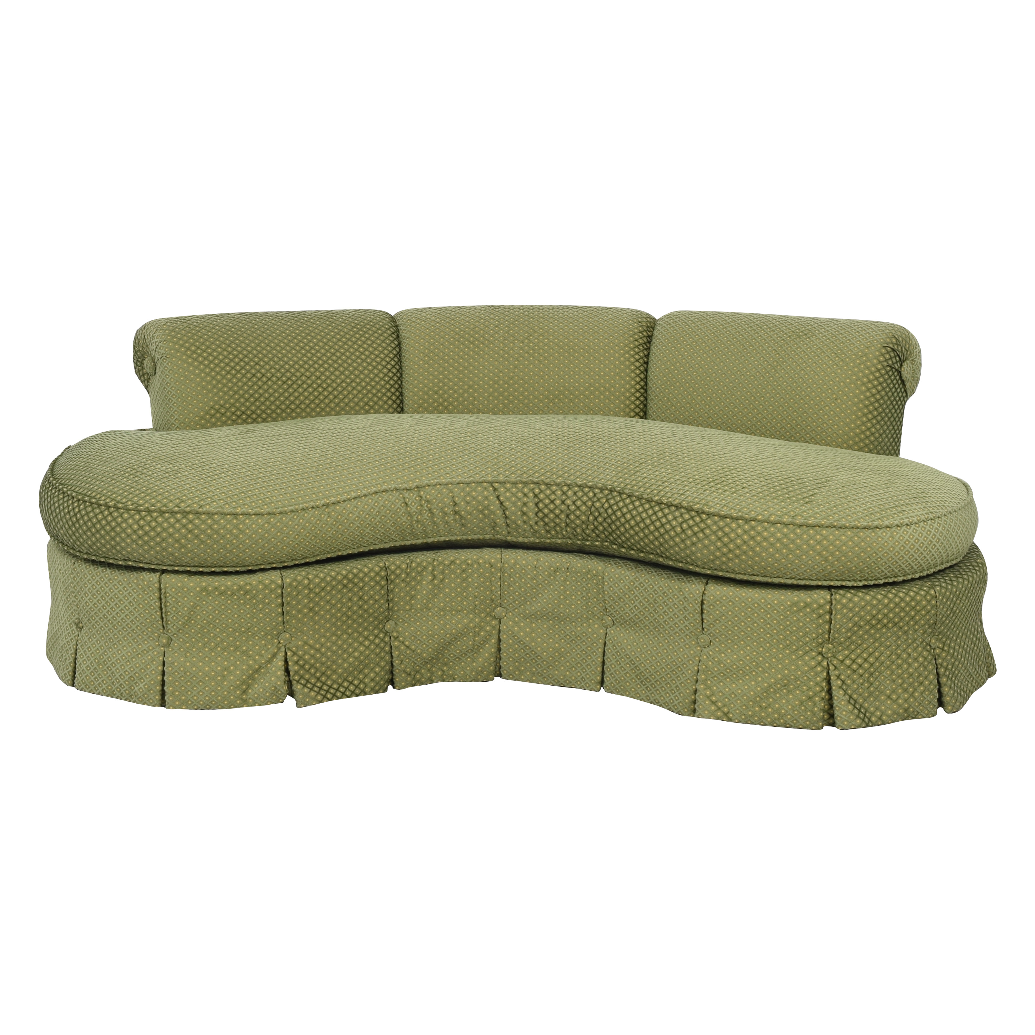 shop Custom Curved Sofa with Skirted Base  Sofas