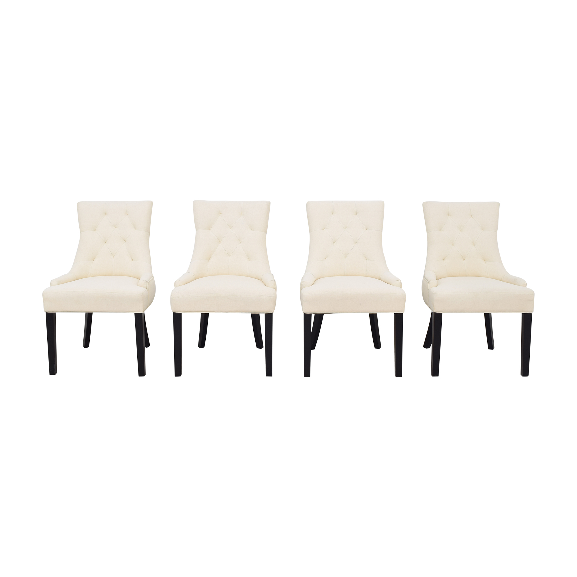 Upholstered Dining Chairs off white & black