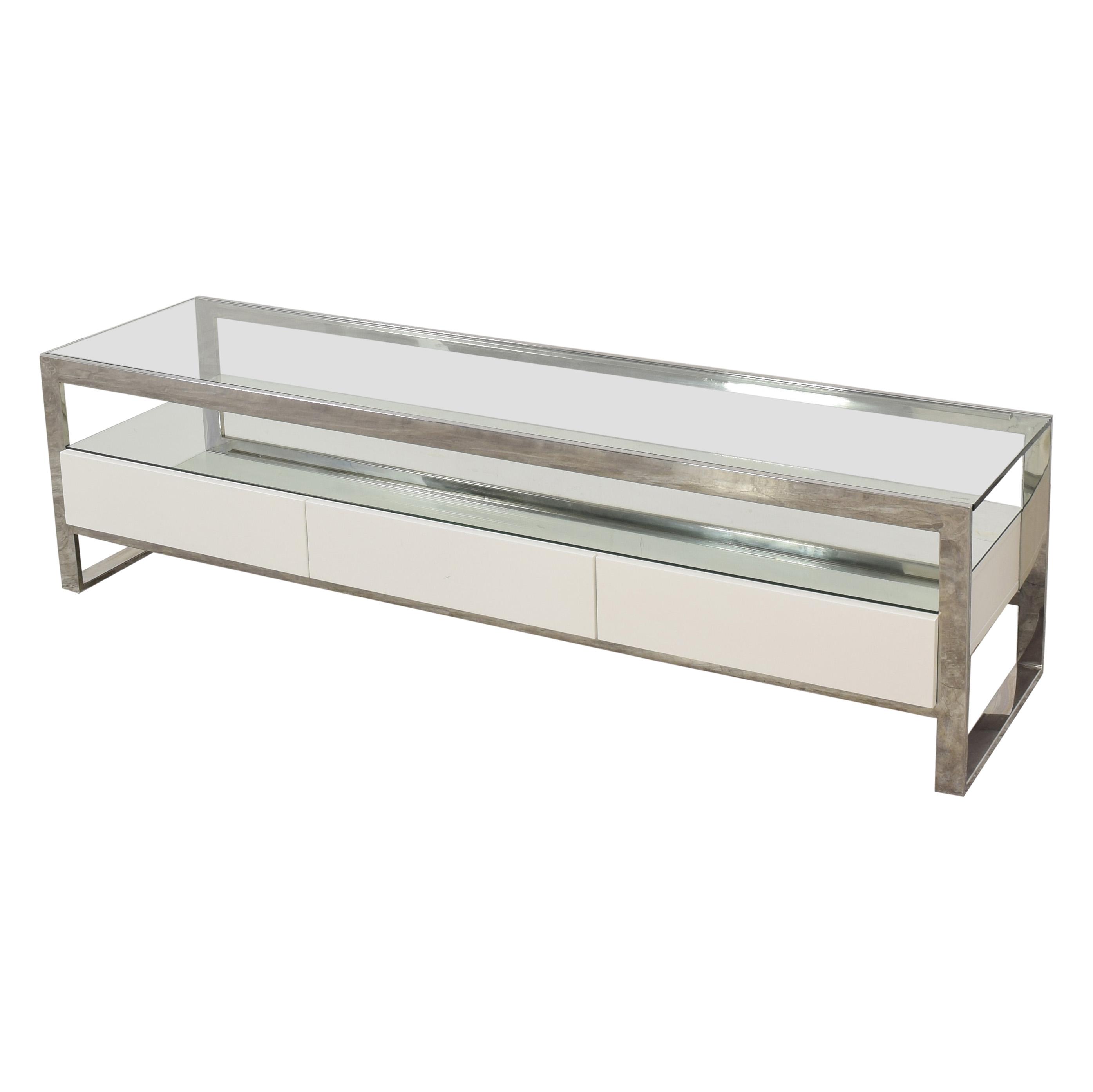 Modani Modani Strada TV Stand white and silver