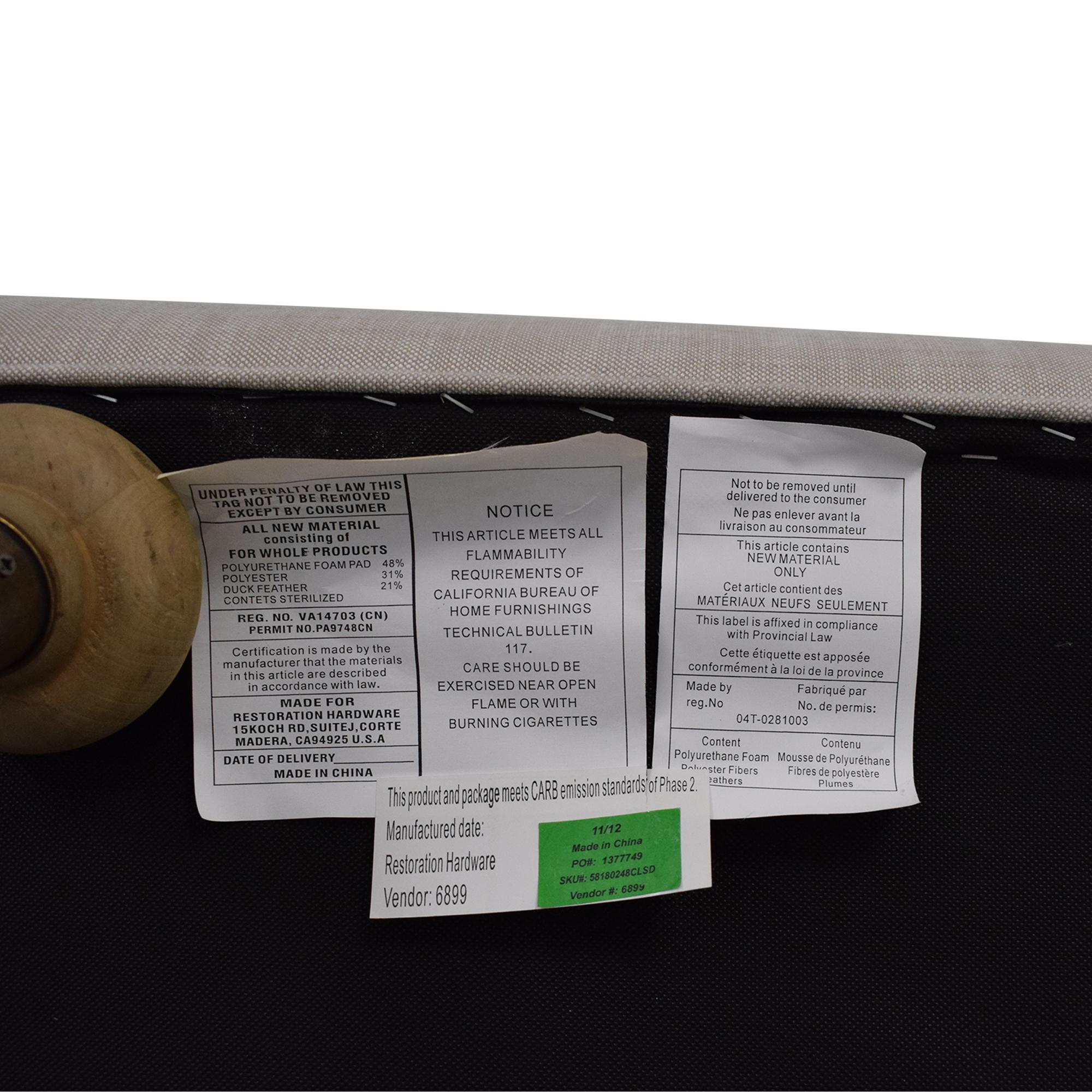 Restoration Hardware Restoration Hardware English Roll Arm Sofa light grey