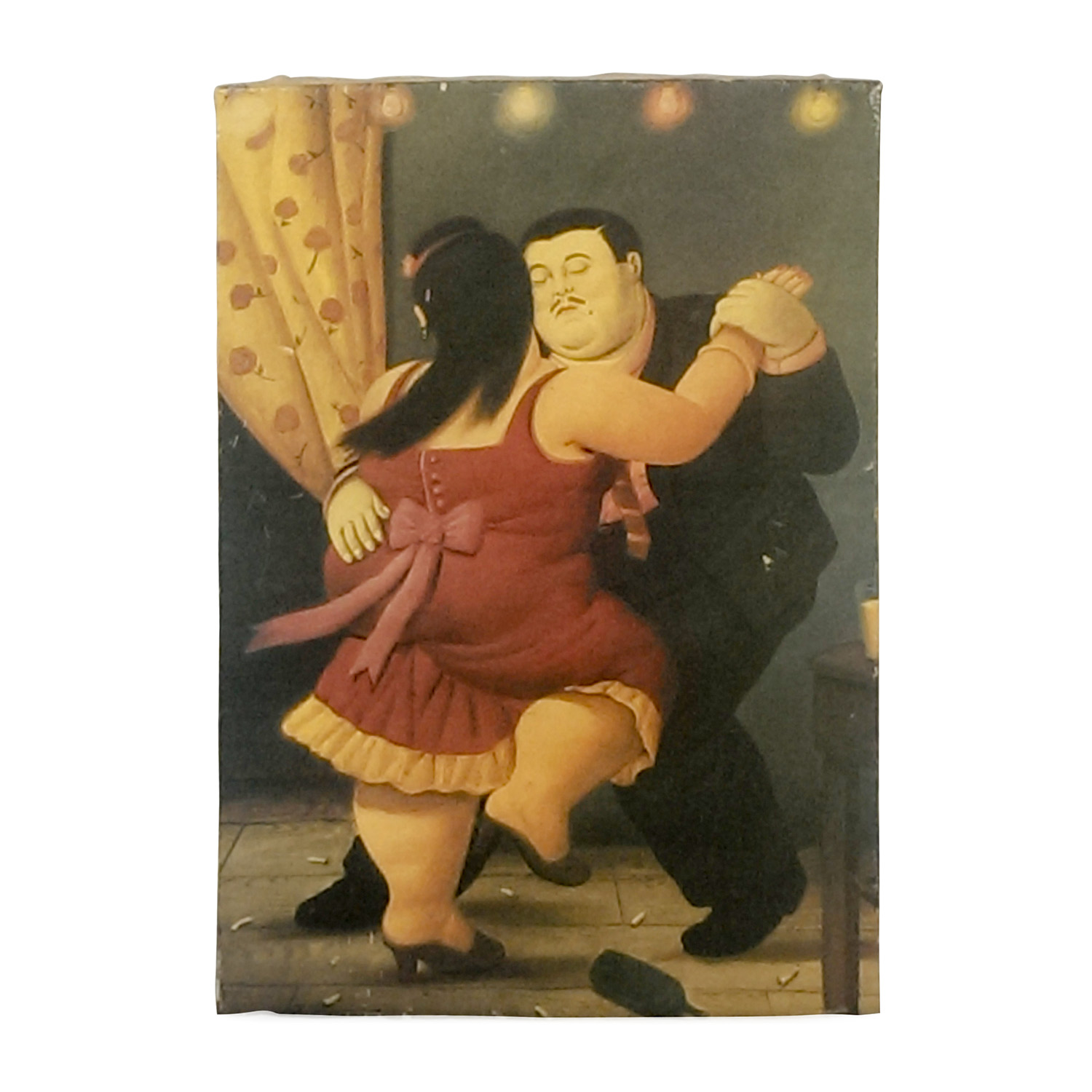 Botero Replica Oil on Canvas Multi