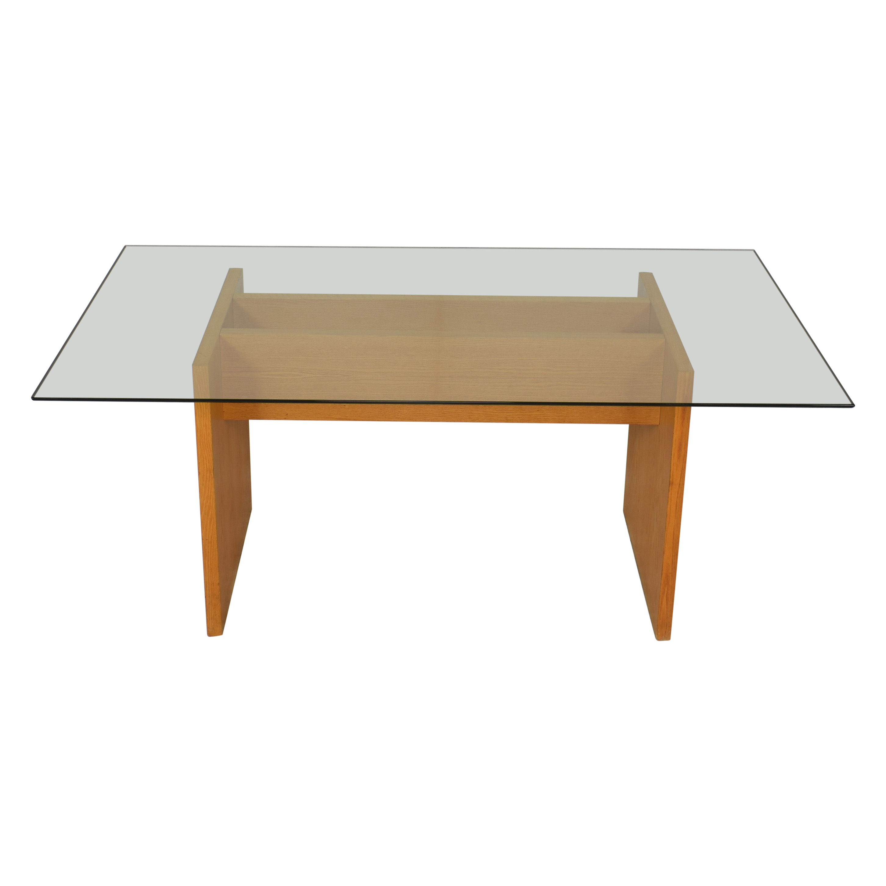 Modern Glass Top Dining Table sale