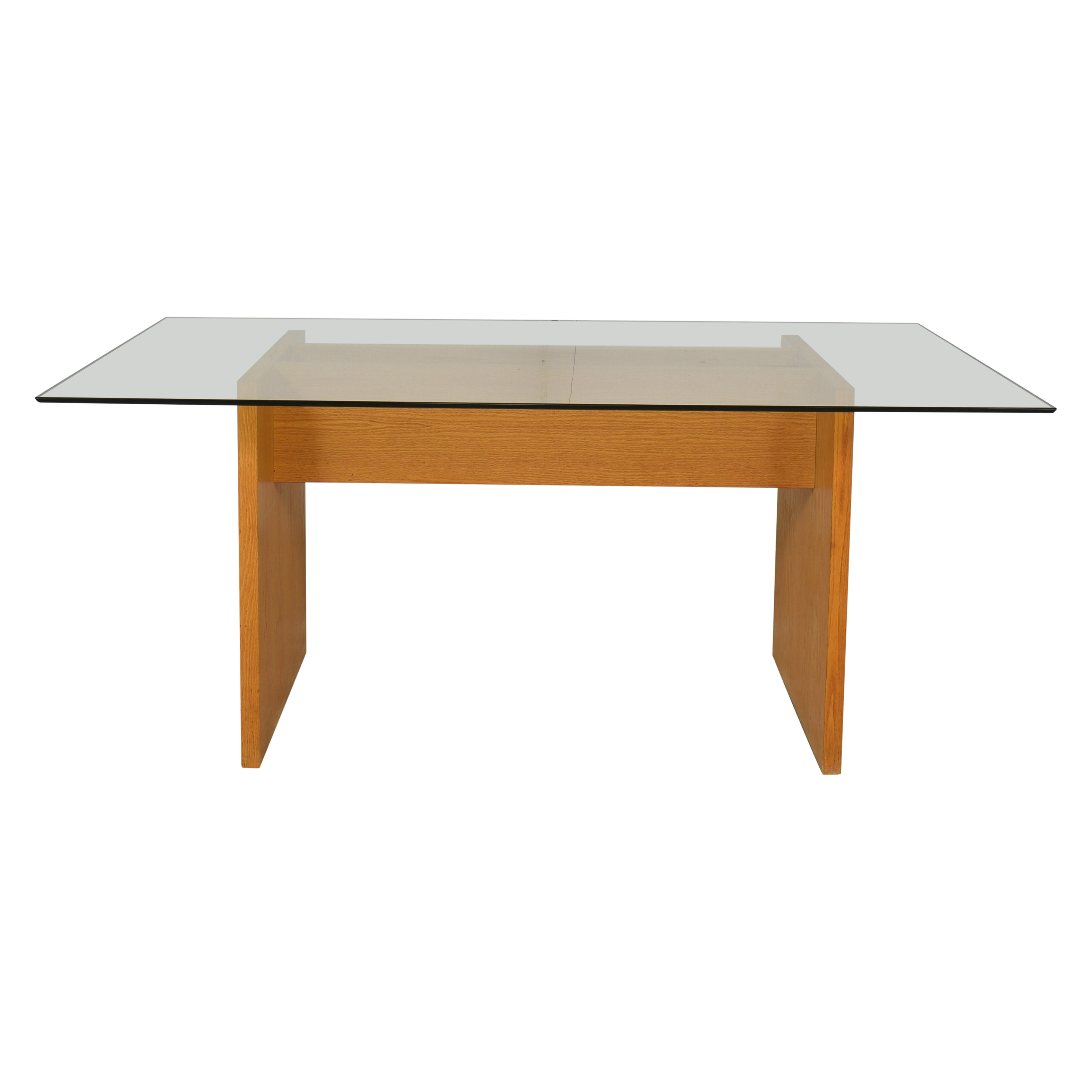 Modern Glass Top Dining Table nyc
