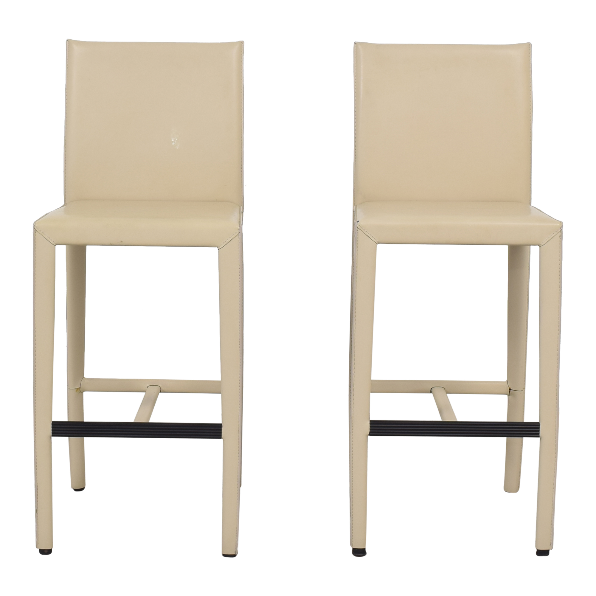 Room & Board Room & Board Sava Leather Bar Stools nj
