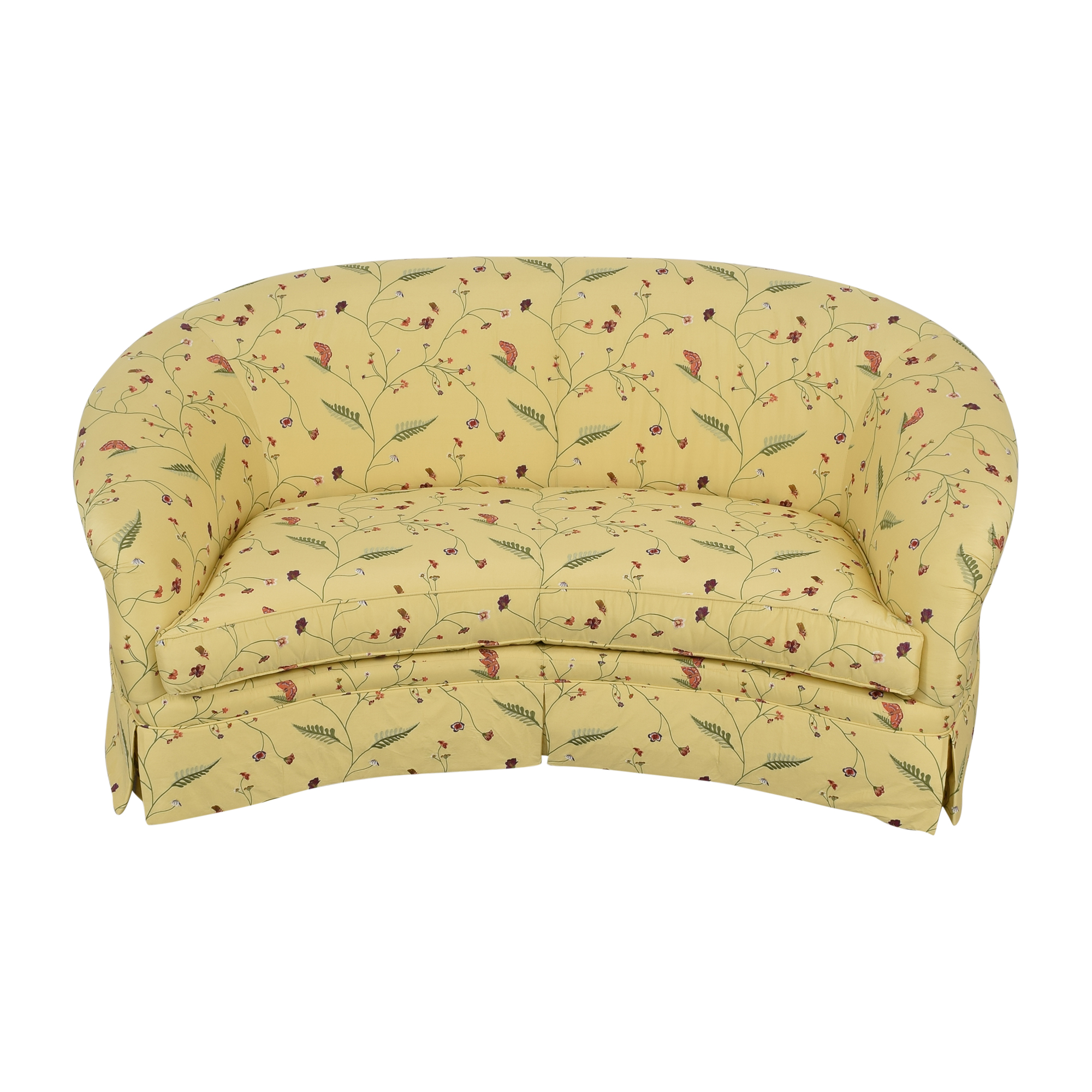 Drexel Heritage Drexel Heritage Chinoiserie Curved Sofa discount