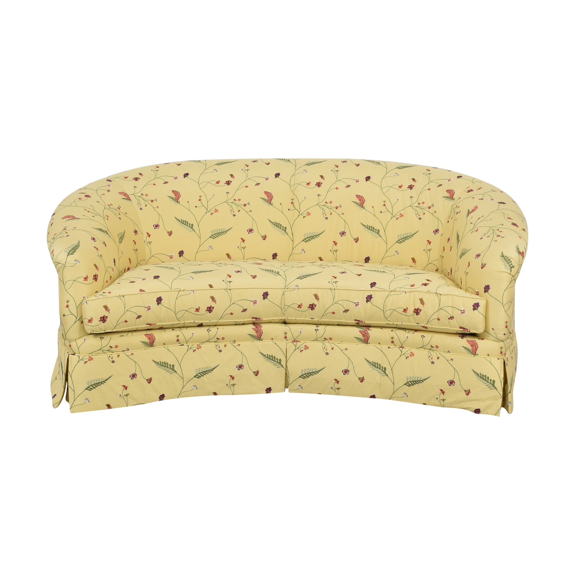 Drexel Heritage Drexel Heritage Chinoiserie Curved Sofa
