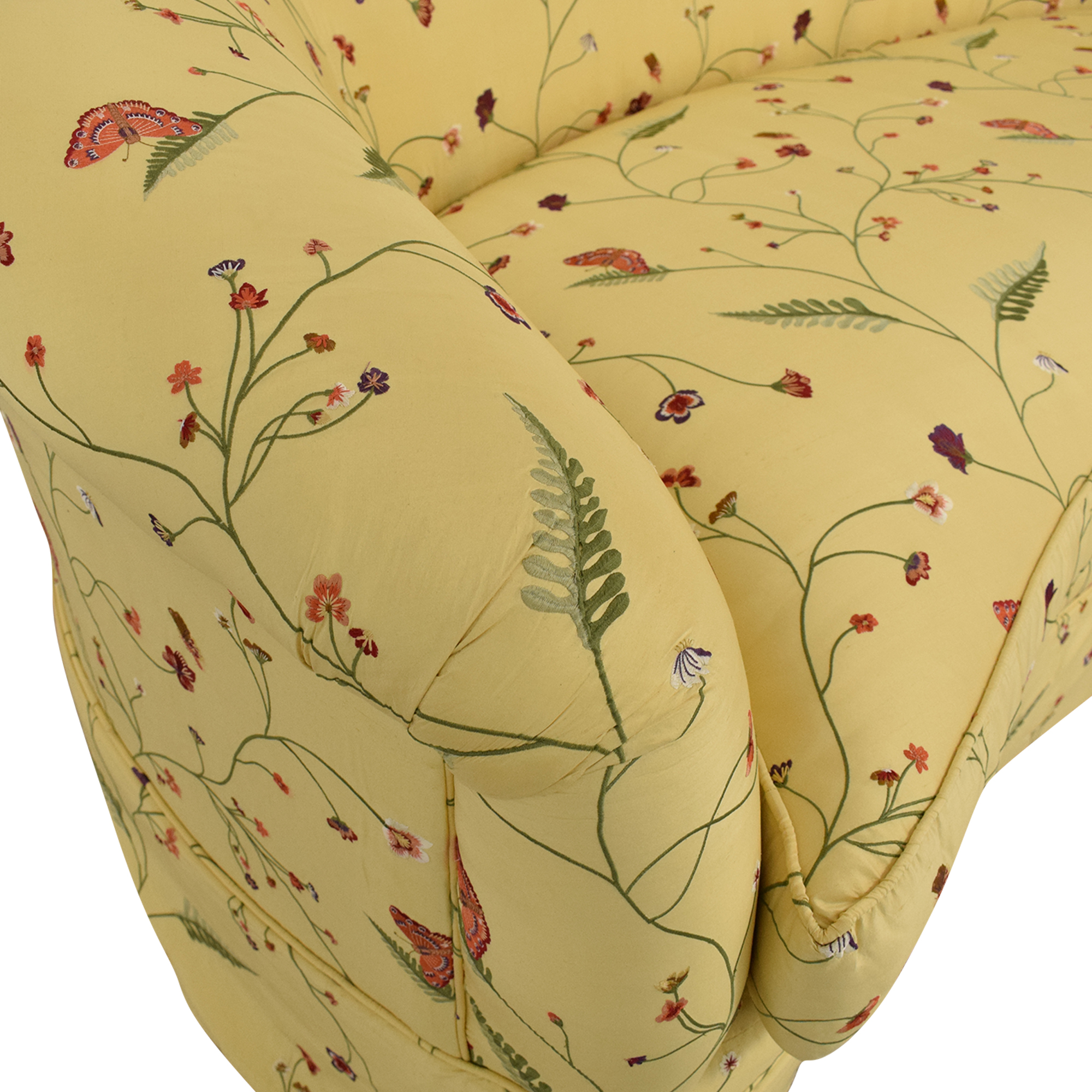 Drexel Heritage Chinoiserie Curved Sofa