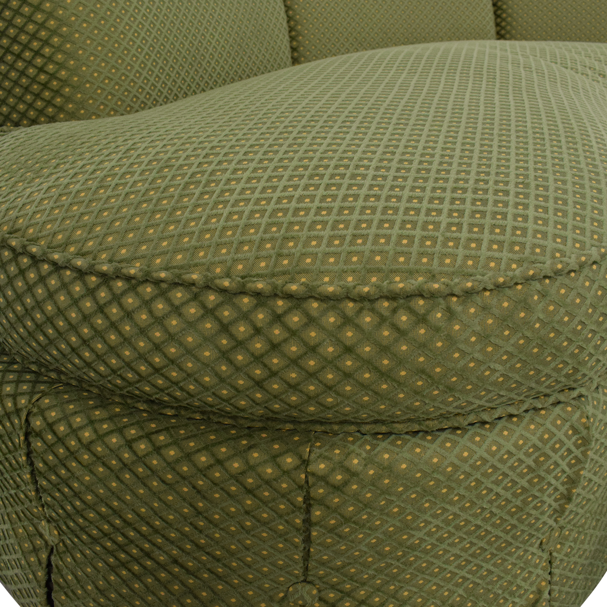 Custom Curved Sofa with Skirted Base and Matching Ottoman price