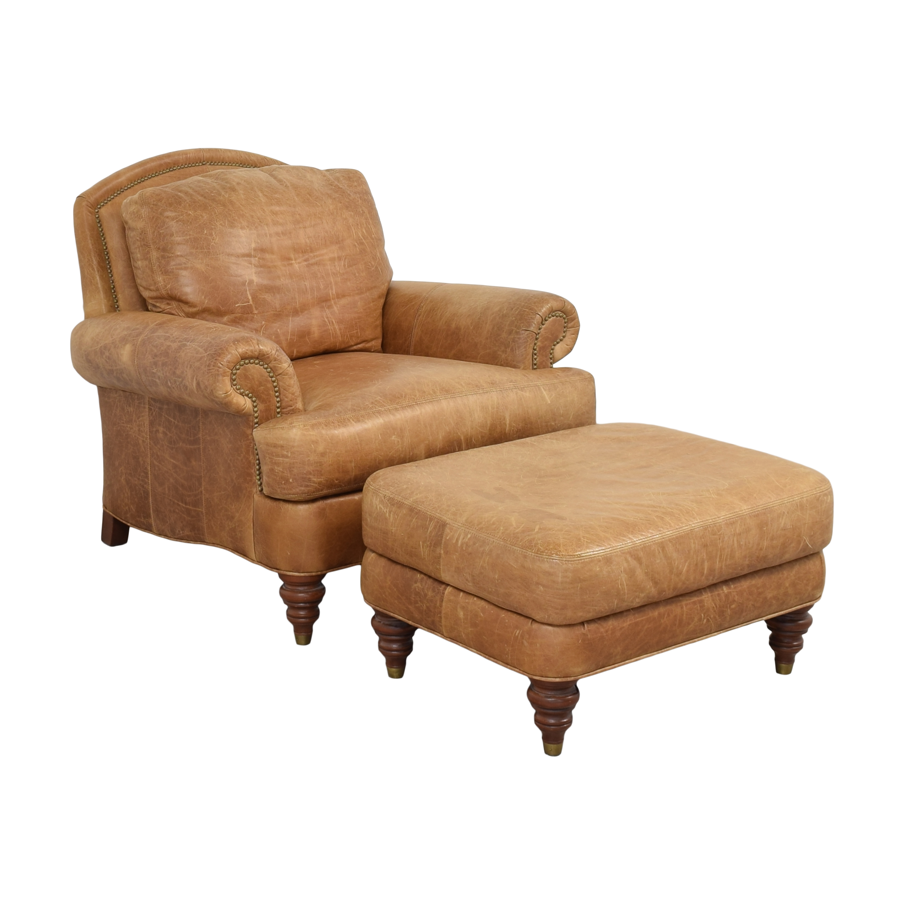 Ethan Allen Lounge Chair and Ottoman / Chairs