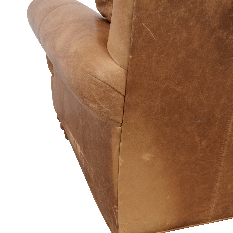 Ethan Allen Ethan Allen Lounge Chair and Ottoman light brown