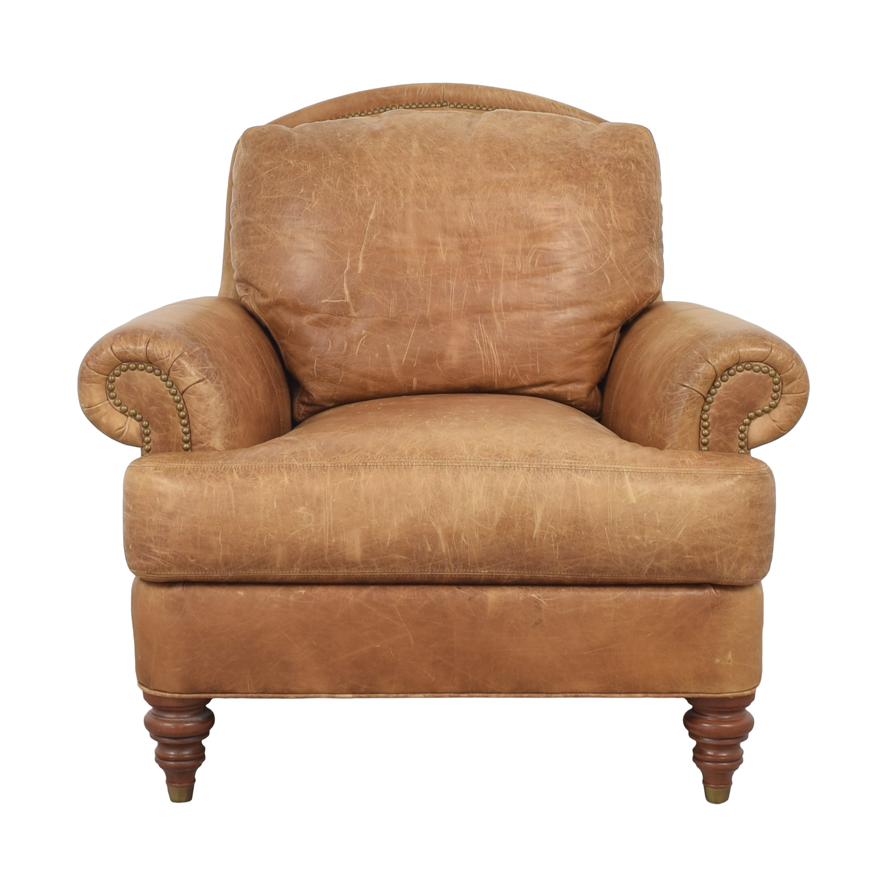 shop Ethan Allen Lounge Chair and Ottoman Ethan Allen Accent Chairs