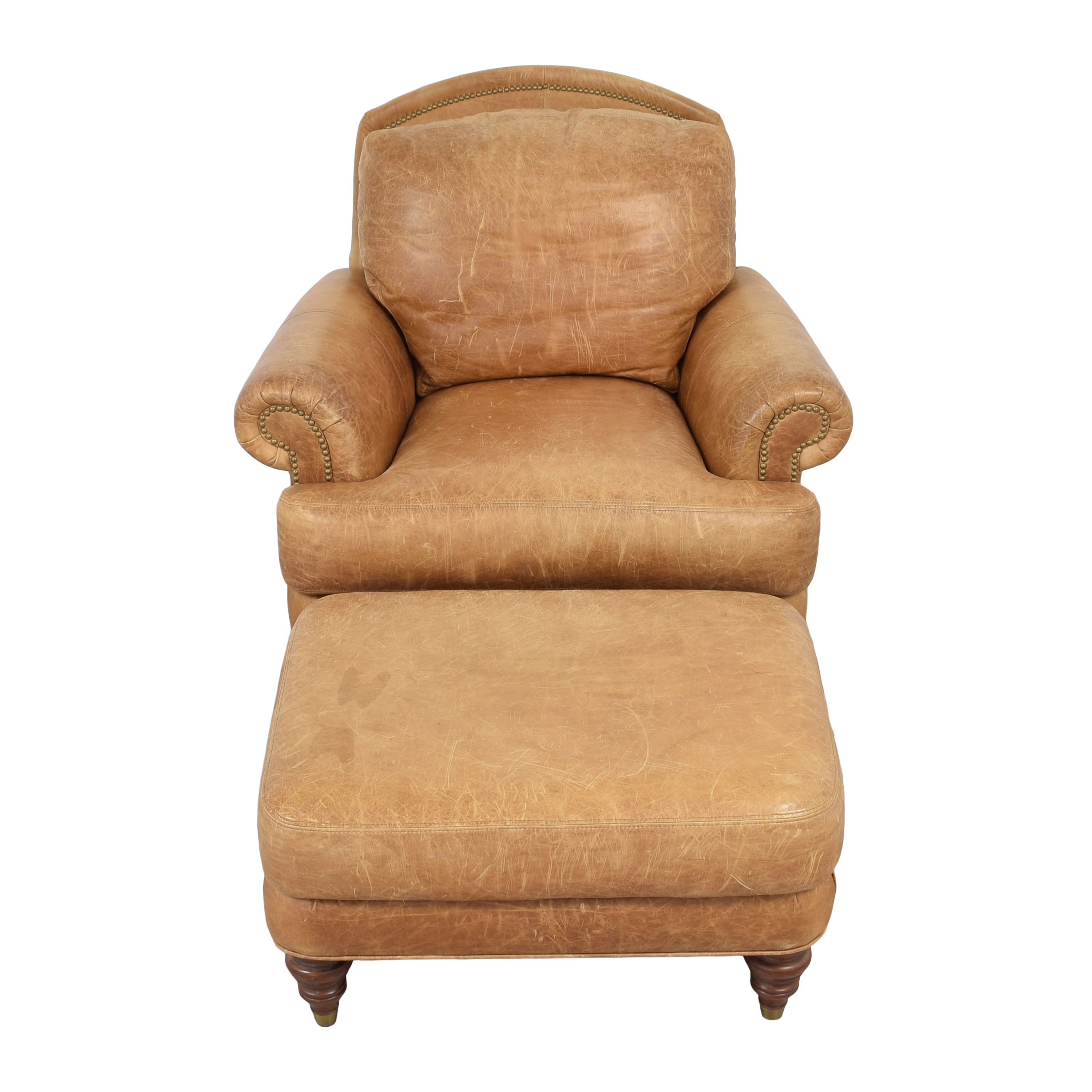 Ethan Allen Ethan Allen Lounge Chair and Ottoman Chairs