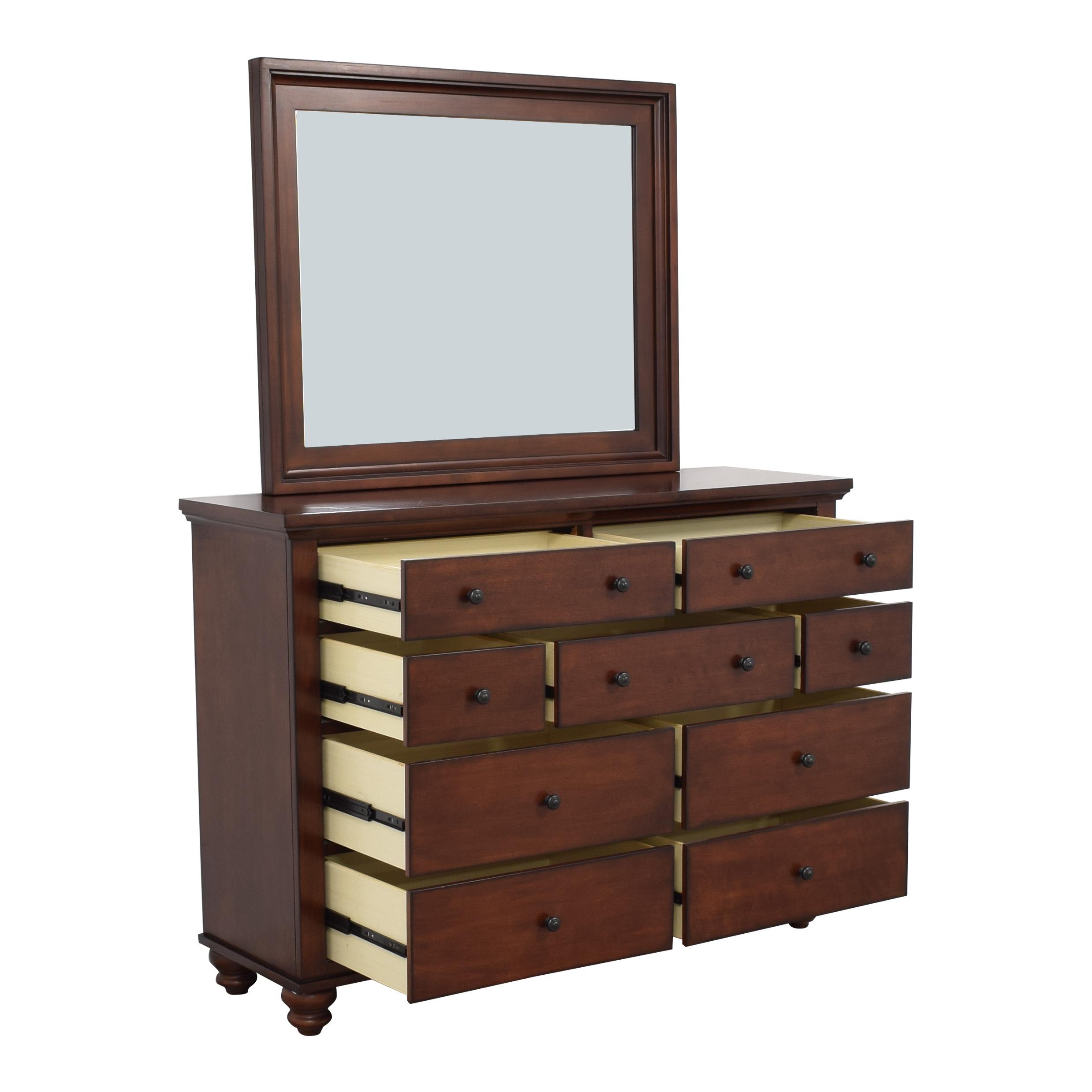 aspenhome Aspen Home Cambridge Dresser with Mirror for sale