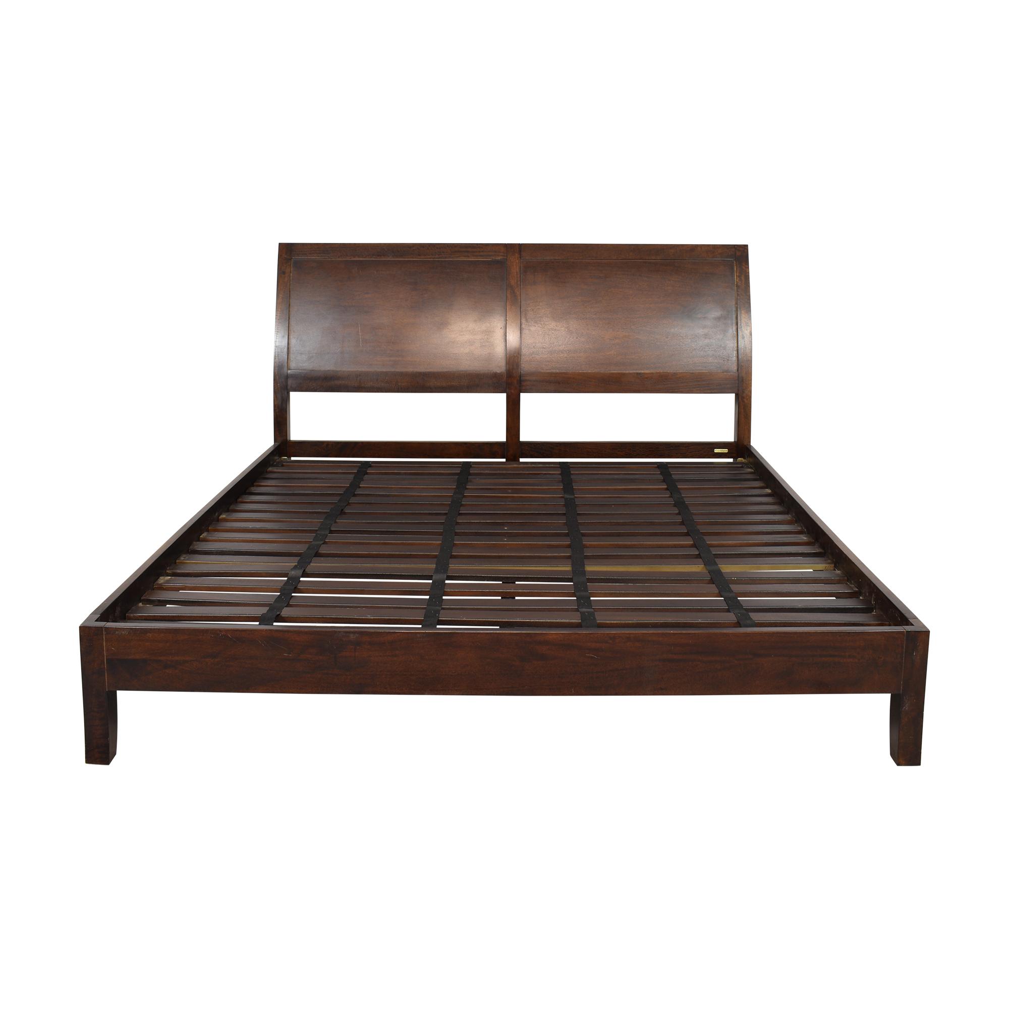 shop Crate & Barrel Dawson King Sleigh Bed Crate & Barrel Beds