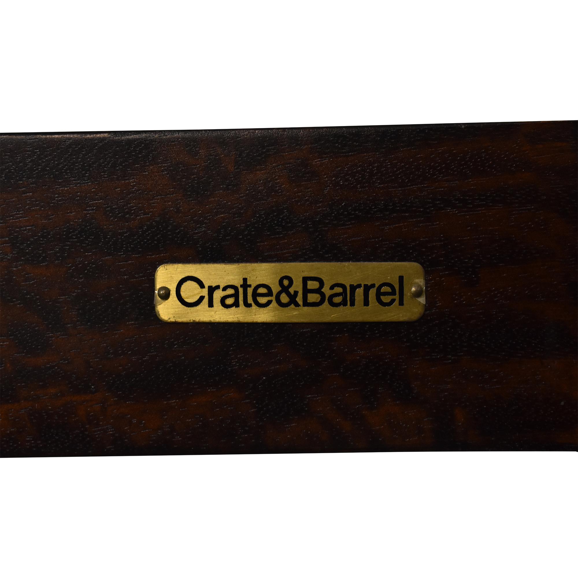 buy Crate & Barrel Dawson King Sleigh Bed Crate & Barrel