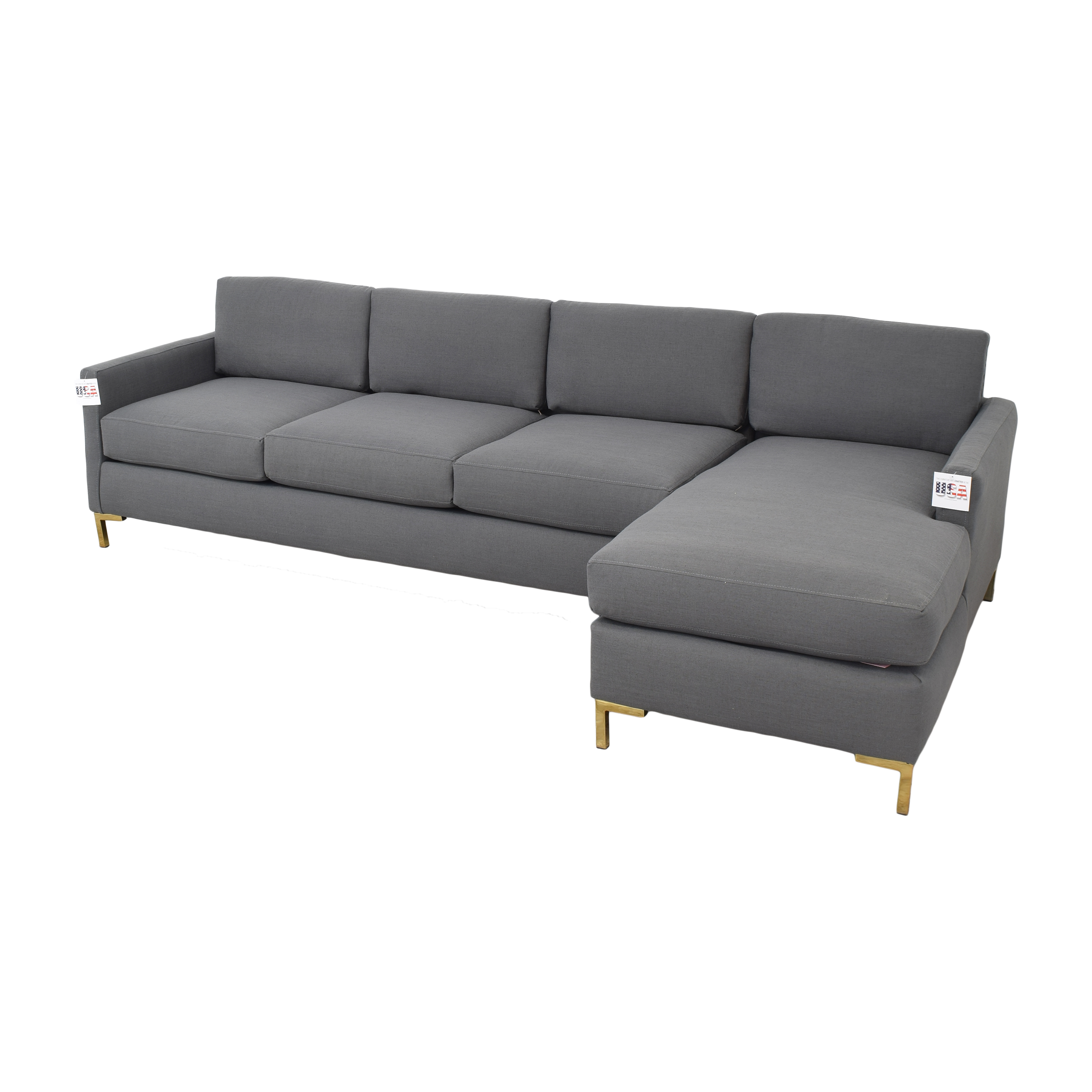 The Inside The Inside Modern Sectional-Right Facing second hand