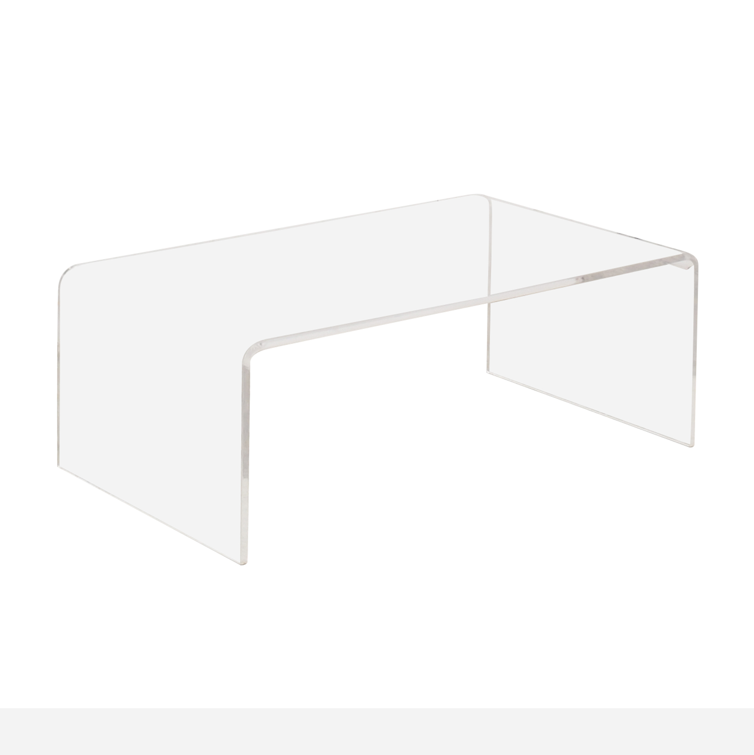 CB2 CB2 Peekaboo Acrylic Coffee Table on sale