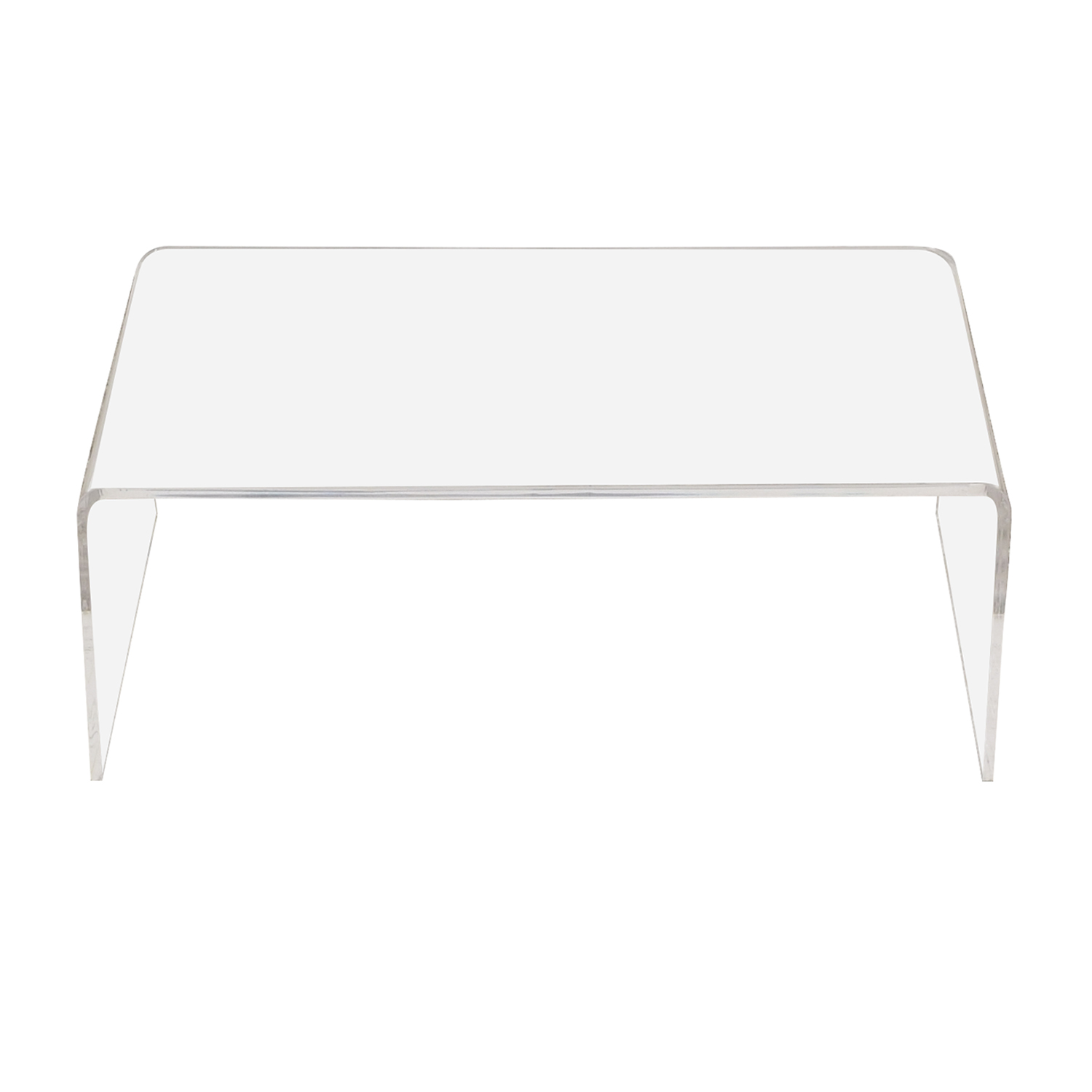 CB2 CB2 Peekaboo Acrylic Coffee Table ct