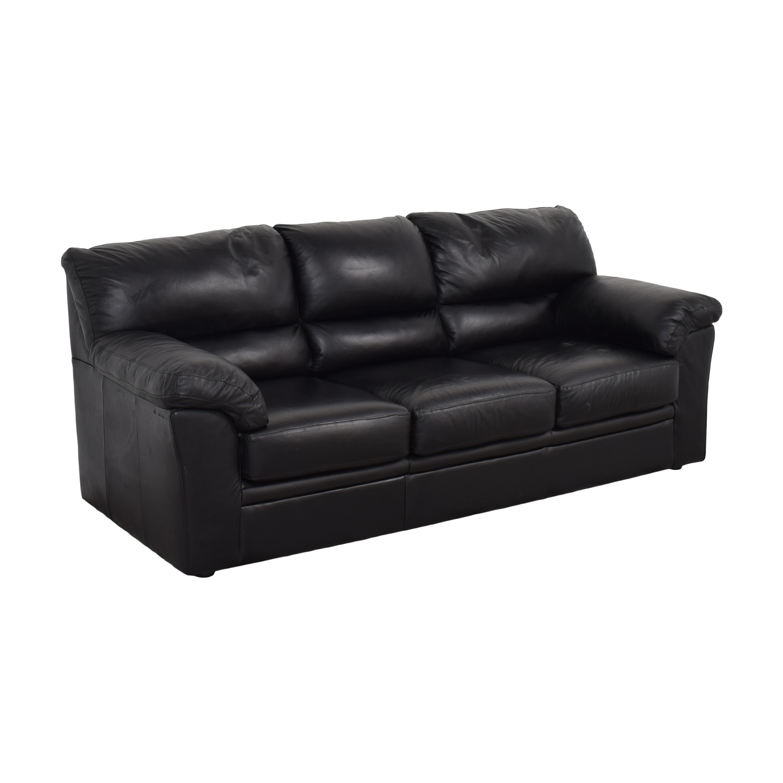 Black Leather Sofa / Classic Sofas