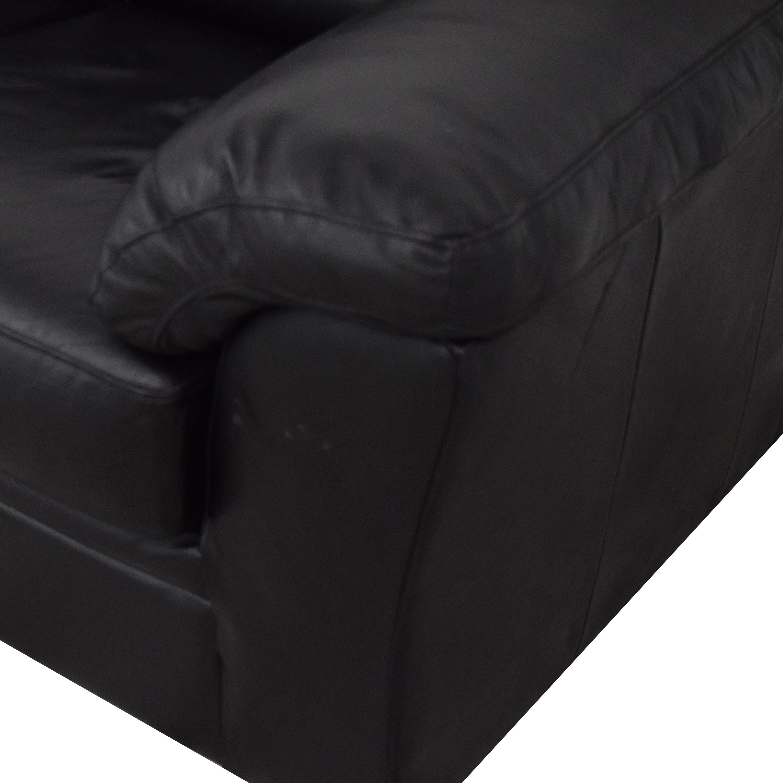 buy  Black Leather Sofa online
