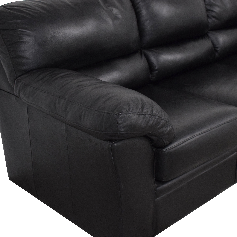 Black Leather Sofa nj