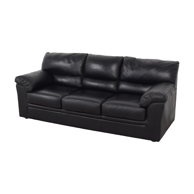 buy Black Leather Sofa  Sofas