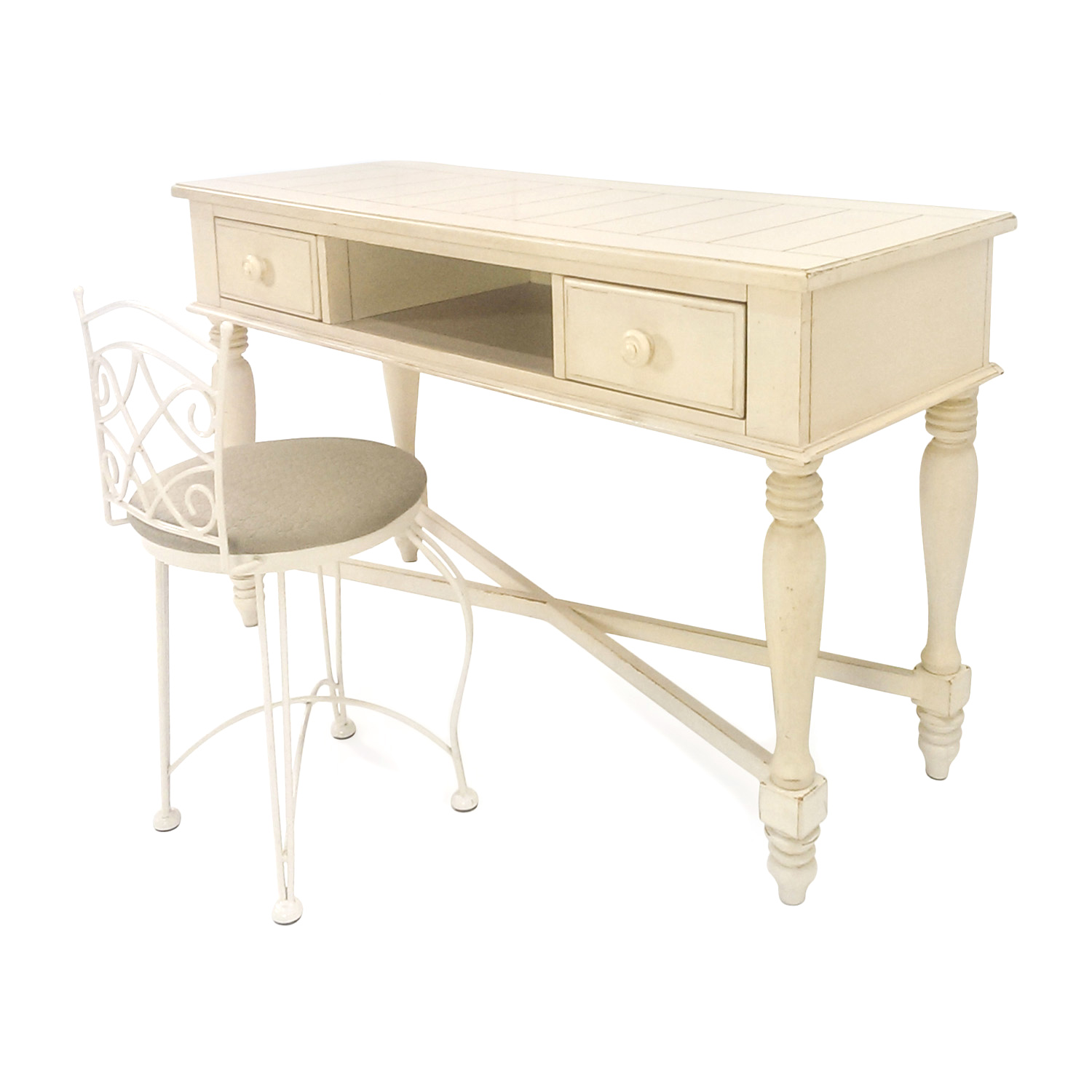 76 Off Cream Colored Vanity Set Tables