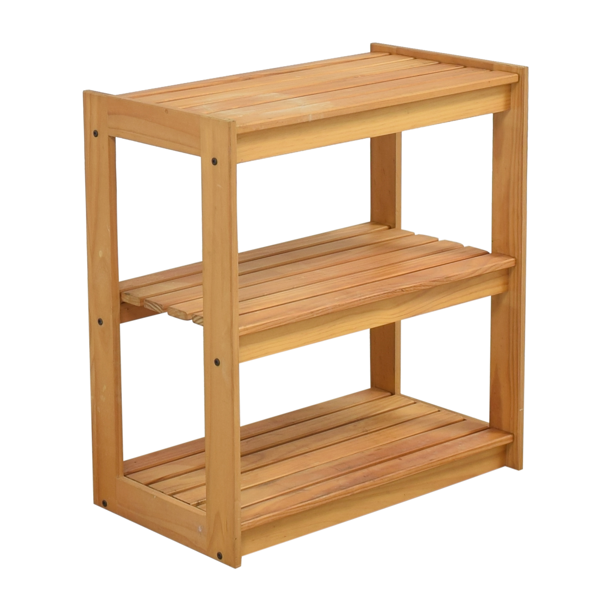 shop Hold Everything Three Tier Storage Shelf Hold Everything End Tables