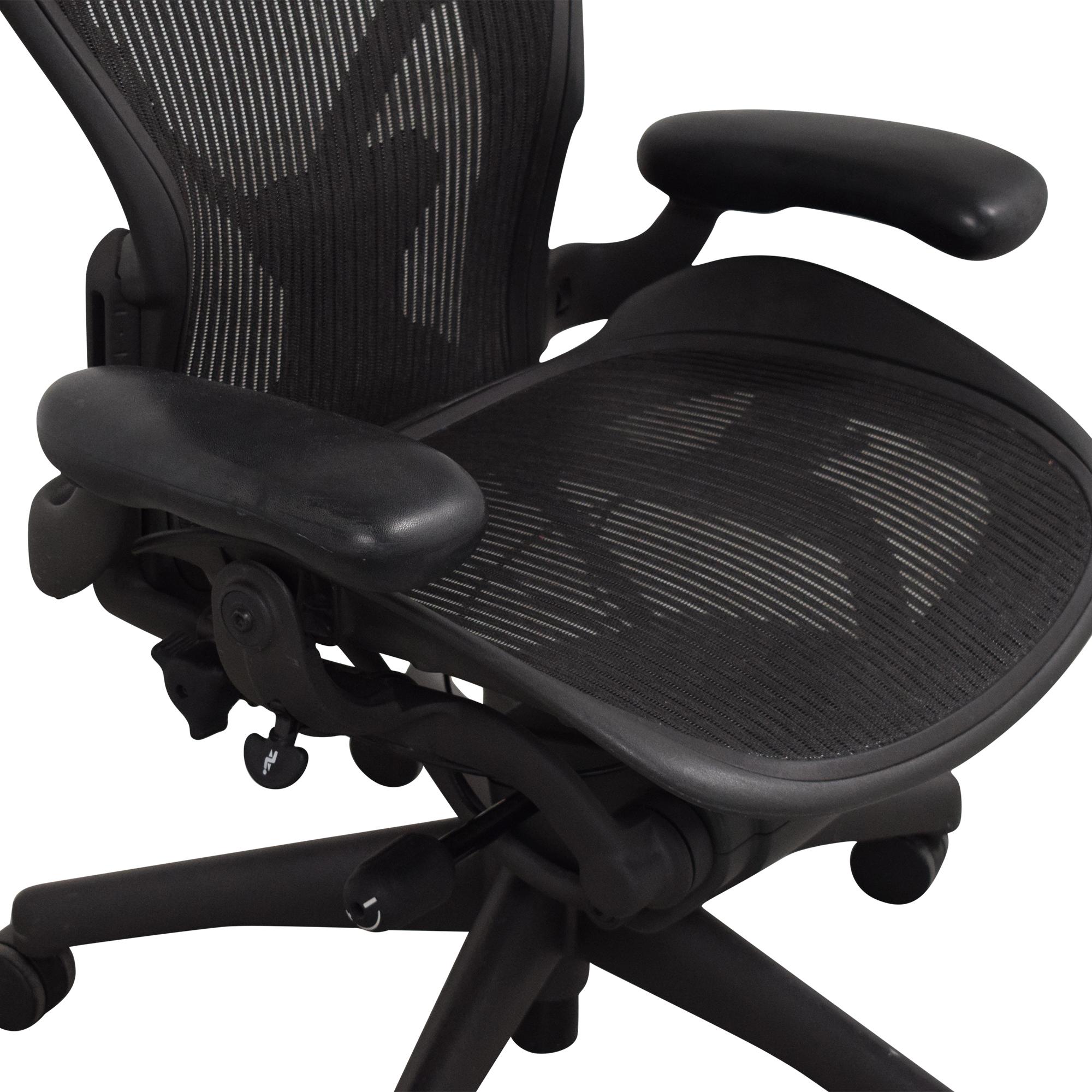 buy Herman Miller Size B Aeron Chair Herman Miller Home Office Chairs