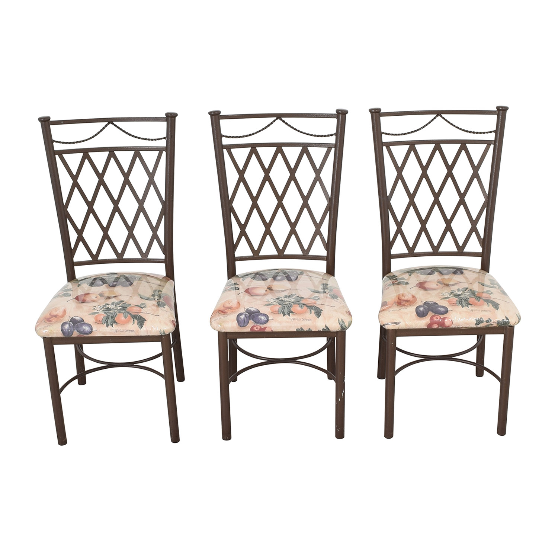 Trellis Back Dinette Chairs dimensions