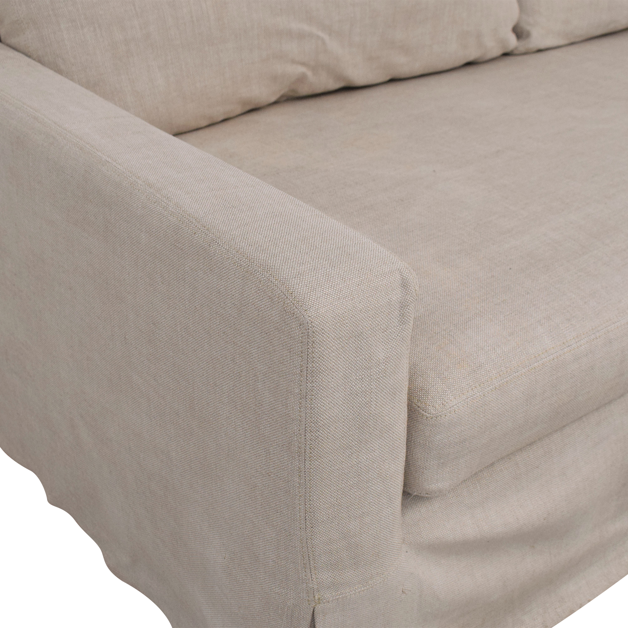 Restoration Hardware Restoration Hardware Belgian Track Arm Slipcovered Sofa second hand