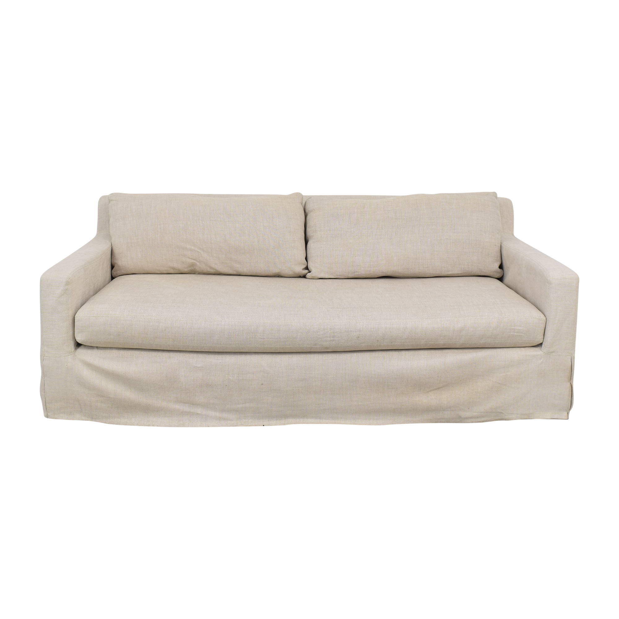 Restoration Hardware Belgian Track Arm Slipcovered Sofa / Sofas