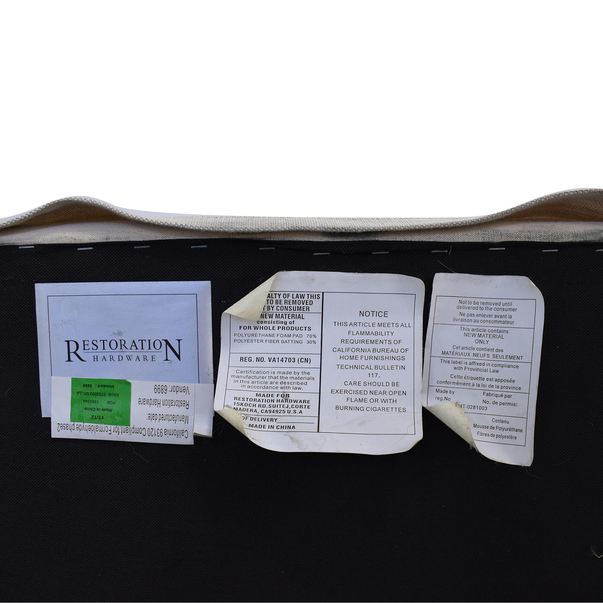 Restoration Hardware Restoration Hardware Belgian Track Arm Slipcover Sofa on sale