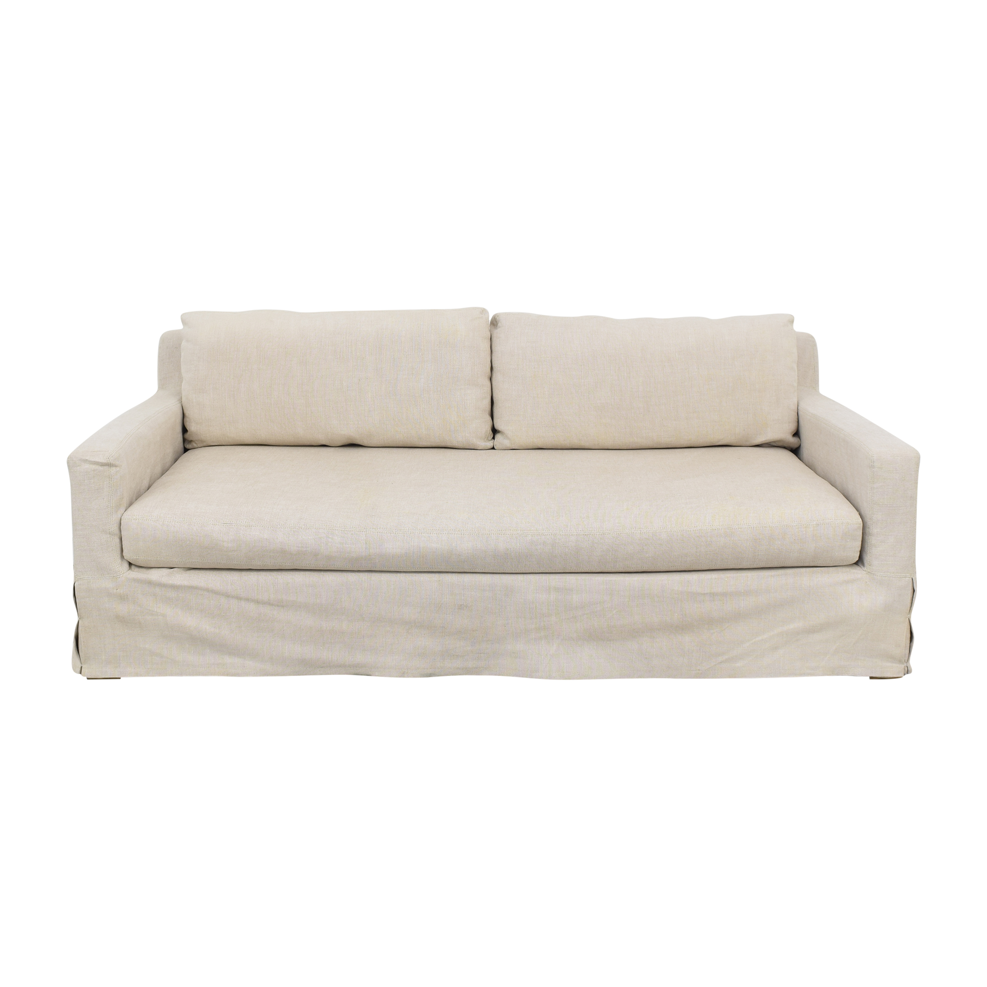buy Restoration Hardware Belgian Track Arm Slipcover Sofa Restoration Hardware