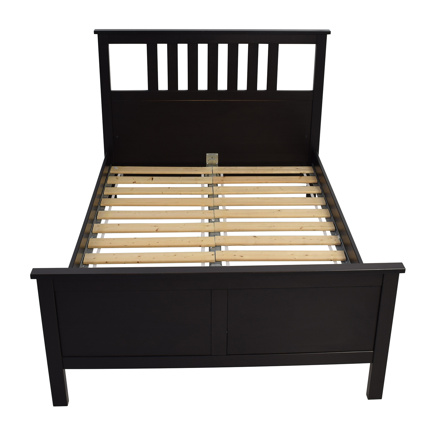 shop ikea dark brown wood queen bed frame ikea bed frames - Ikea Queen Bed Frames