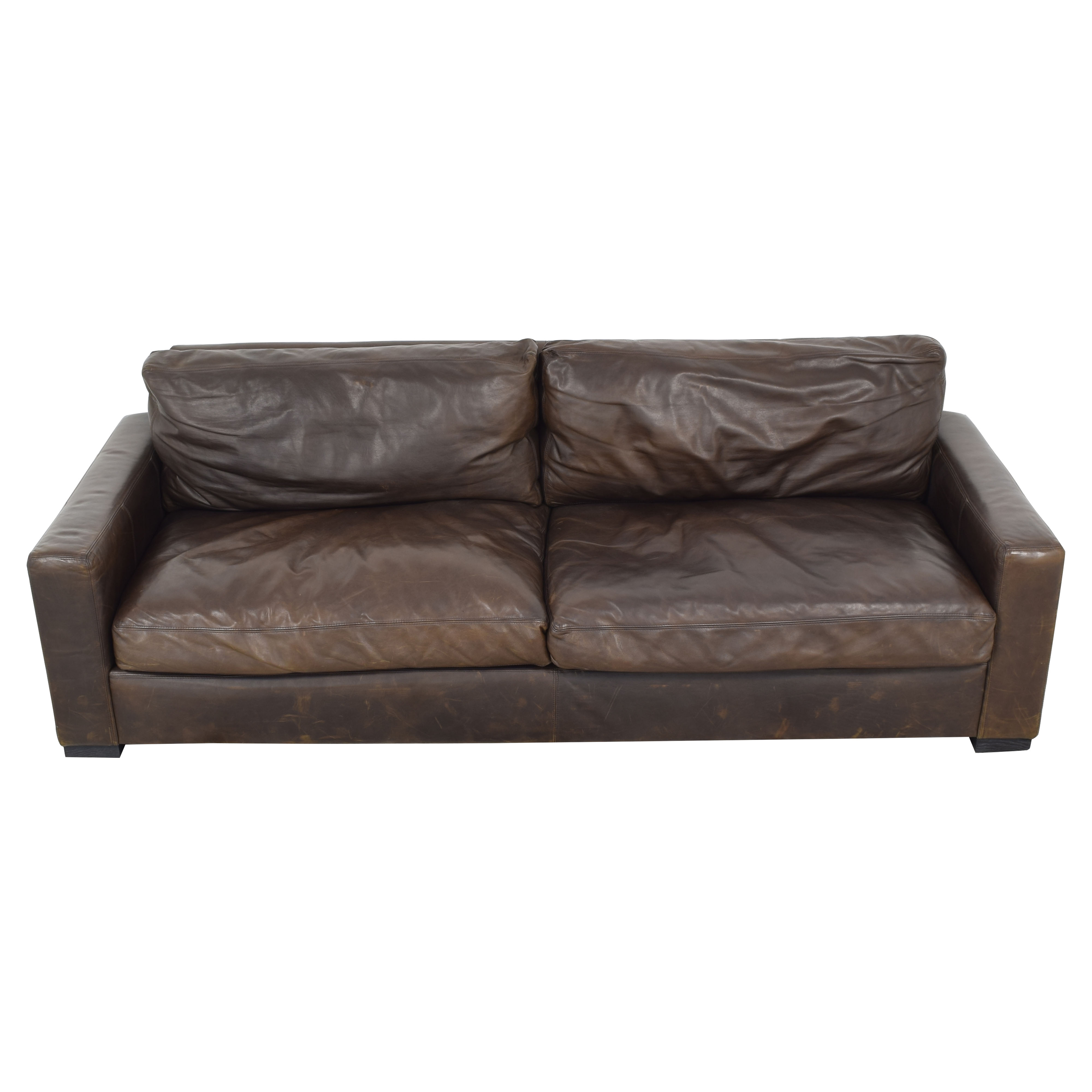 shop Restoration Hardware Maxwell Leather Sofa Restoration Hardware Sofas