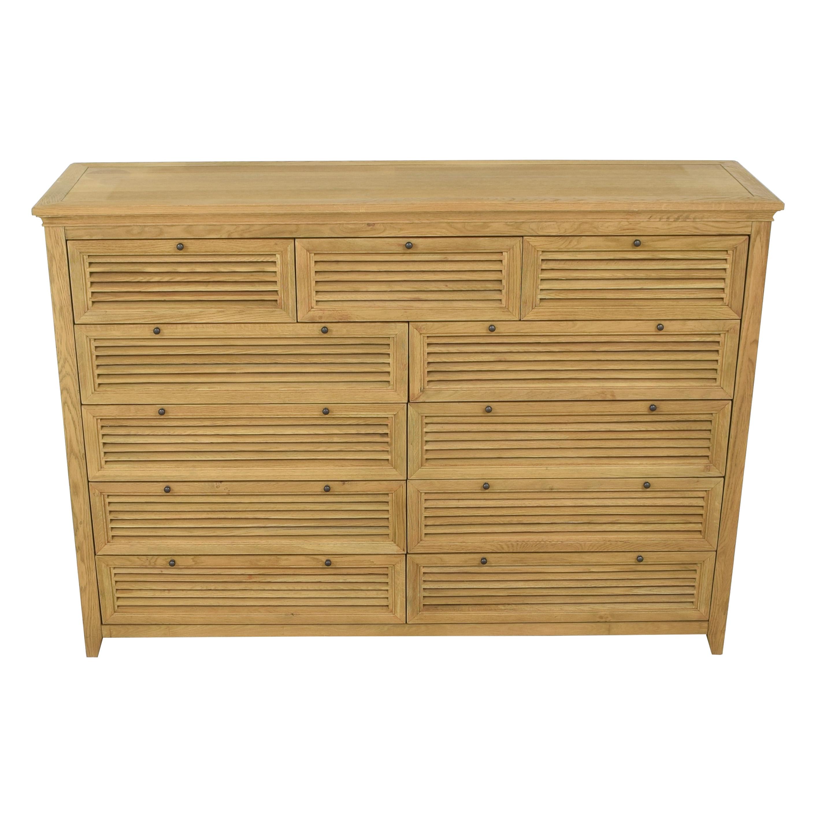 shop Restoration Hardware Shutter 11-Drawer Dresser Restoration Hardware Dressers
