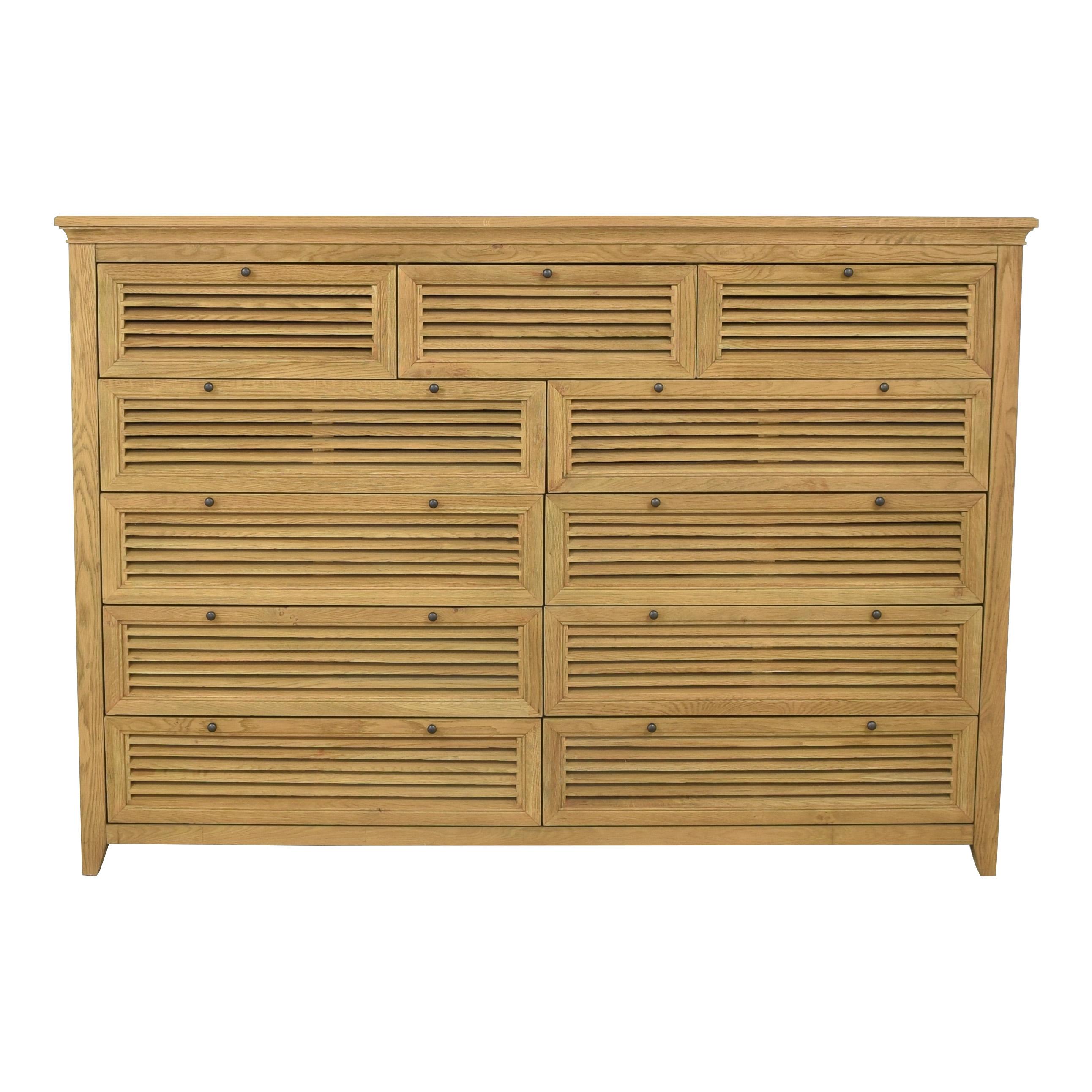 Restoration Hardware Restoration Hardware Shutter 11-Drawer Dresser price