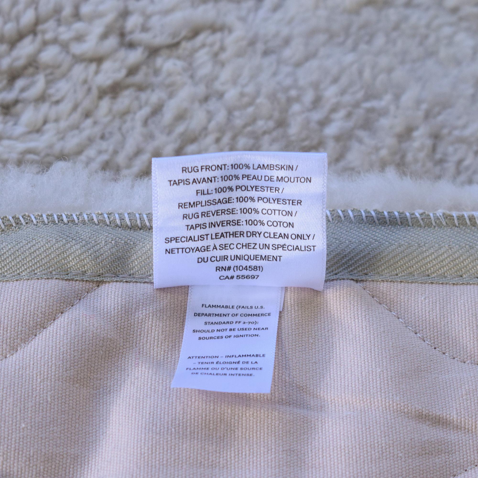 RH Baby & Child Restoration Hardware Curly Wool Sheepskin Rug dimensions