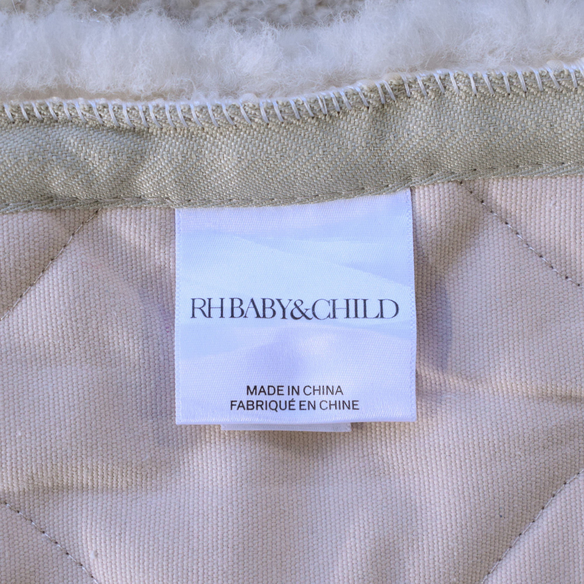 shop Restoration Hardware Curly Wool Sheepskin Rug RH Baby & Child Decor