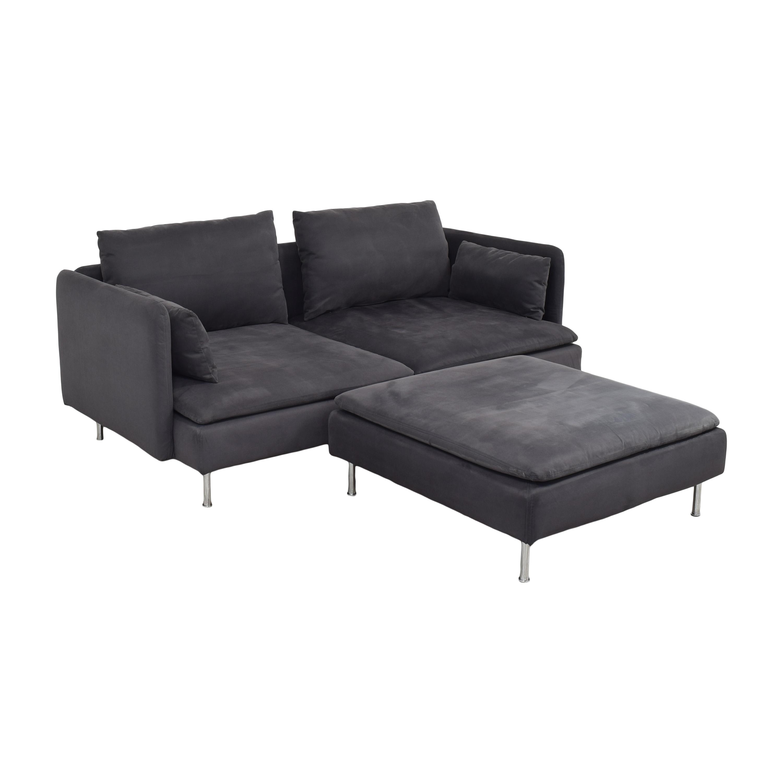 IKEA IKEA SÖDERHAMN Sofa with Ottoman ct