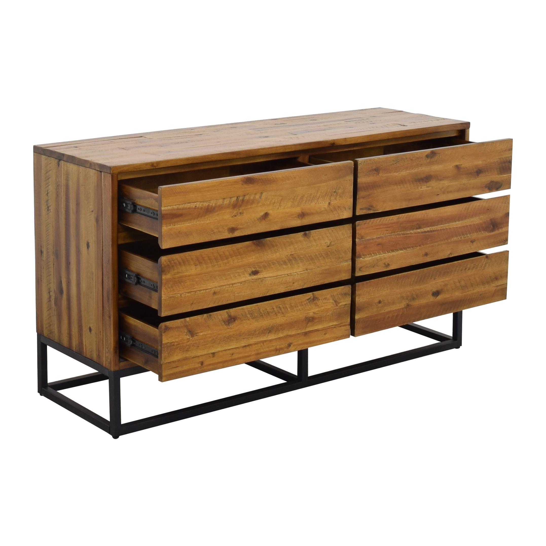 West Elm West Elm Logan Industrial 6-Drawer Dresser used