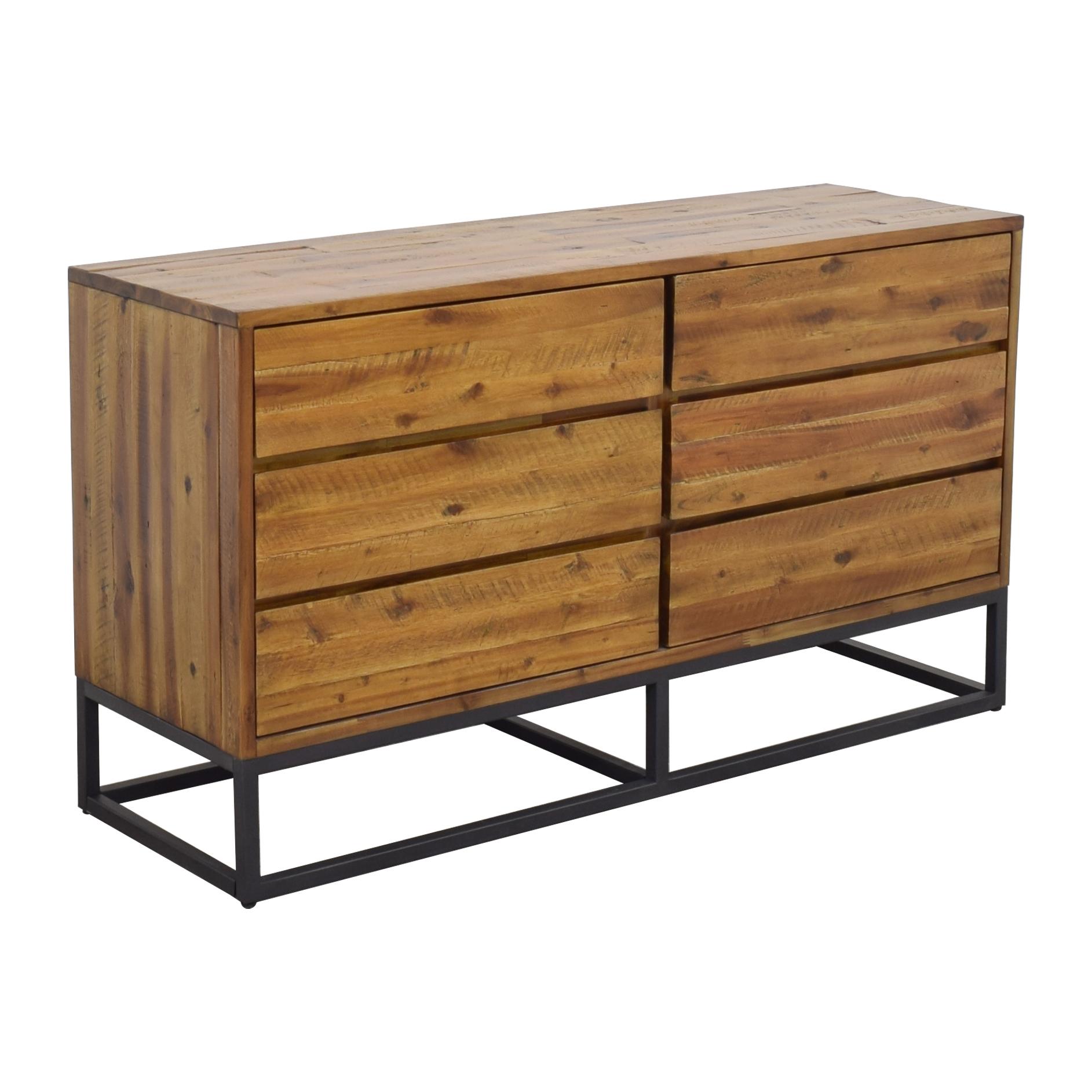 West Elm West Elm Logan Industrial 6-Drawer Dresser Dressers
