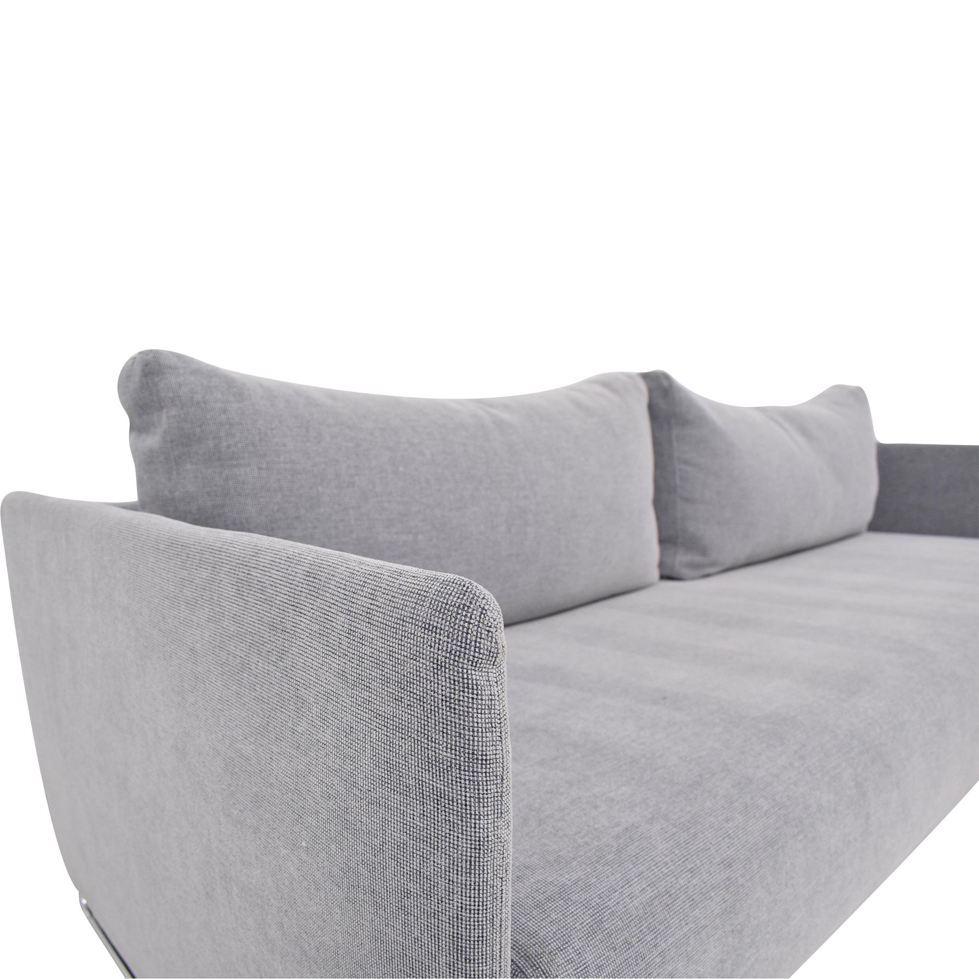 CB2 CB2 Tandom Microgrid Sleeper Sofa dimensions