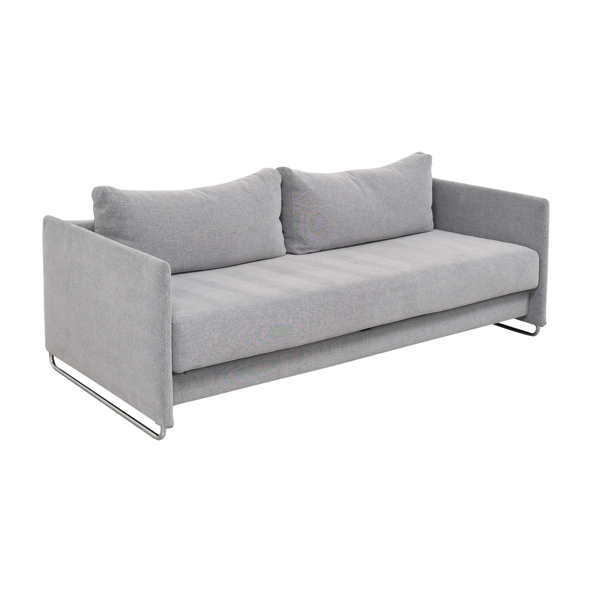 CB2 CB2 Tandom Microgrid Sleeper Sofa Classic Sofas