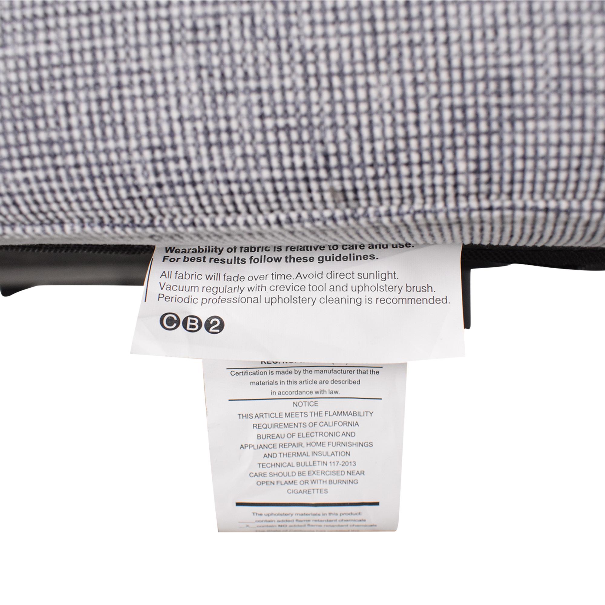 shop CB2 CB2 Tandom Microgrid Sleeper Sofa online