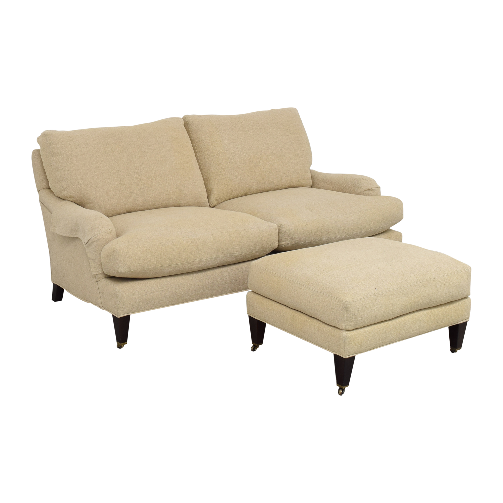 Crate & Barrel Crate & Barrel Essex Sofa with Ottoman coupon
