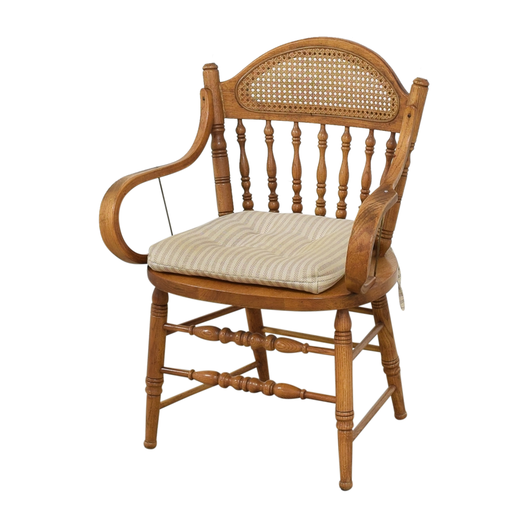 Oak Dining Arm Chairs with Cushions nj
