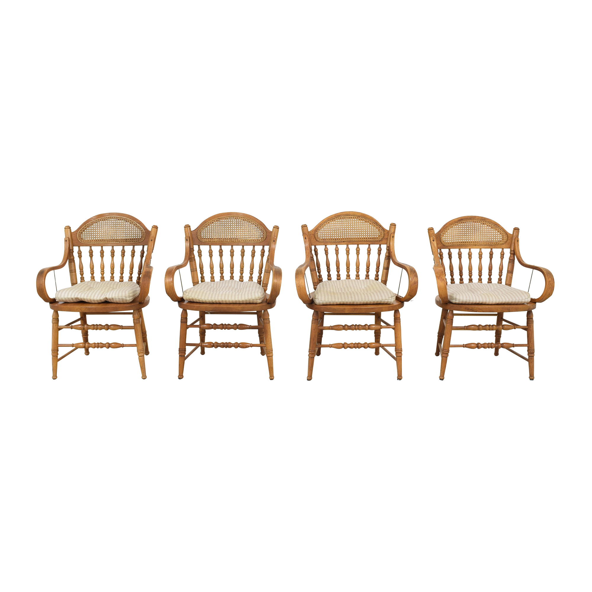 Oak Dining Arm Chairs with Cushions nyc